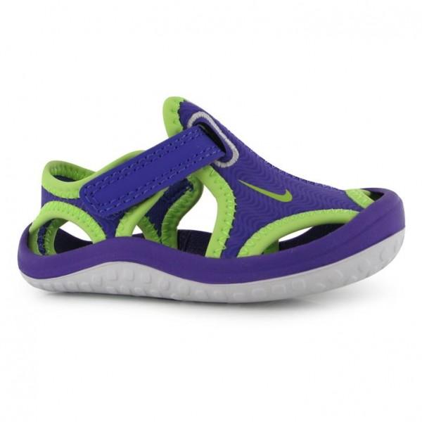 Nike Sunray Protect детски сандали Grape/Green